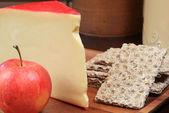 Gouda cheese platter — Stock Photo