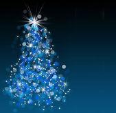Bokeh Christmas tree — Stock Photo