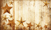 Country Christmas stars — Stock Photo