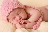 Newborn baby girl — Stock Photo