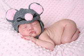 Newborn baby girl — Stock Photo