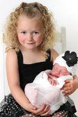 Grande soeur et son bébé — Photo