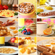 Breakfast collage - Stok fotoğraf