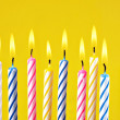 Foto de Stock  : Birthday candles