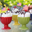 American sundaes — Stock Photo #11105324