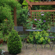 Backyard patio — Stock Photo