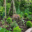 Stock Photo: Vegetable and fruit garden bed