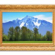 Rocky mountains painting. — Stok fotoğraf