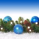 Blue Christmas border — Stock Photo