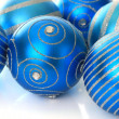 Blue Christmas ornaments — Stock Photo