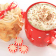 Christmas hot chocolate — Stock Photo