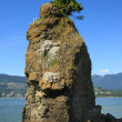 Siwash Rock, Vancouver - Stock Photo