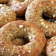Stock Photo: Whole grain bagels