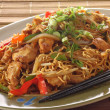 Stock Photo: chicken chow mein