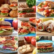 Sandwich collage - Stock Photo