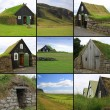 Icelandic turf houses — Stock Photo