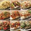 Asian food dishes - Foto Stock