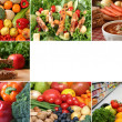 Stock Photo: Healthy eating collage