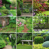 Collage de jardines — Foto de Stock