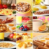 Breakfast collage — Stock Photo