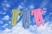 Baby laundry — Stock Photo