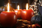 Apple candles — Stock Photo