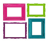 Colorful picture frames — 图库照片