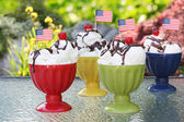 American sundaes — Stock Photo