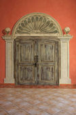 Vintage double doors — Stock Photo
