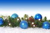 Blue Christmas border — Stock Photo
