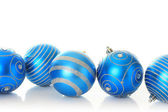 Blue Christmas ornaments — Stock fotografie