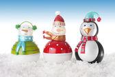 Joyeux bonhommes de neige — Photo