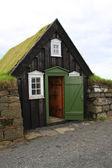 Iceland turf house — Stock Photo