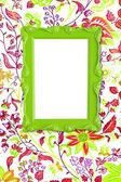 зеленая рамка кадра — Стоковое фото