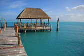 Caribbean dock — Stock Photo