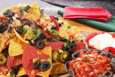 Nachos with cheese — Stock Photo