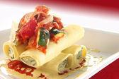 Primavera de pâtes cannelloni — Photo