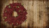 Country Christmas wreath — Stock Photo
