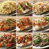 Pratos de comida asiática — Foto Stock