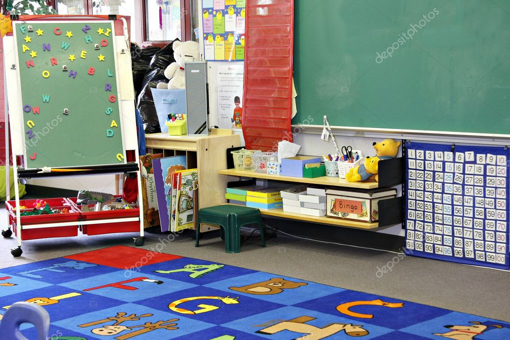 Kindergarten, preschool classroom. — Stock Photo #11105548