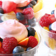 Summer fruit salad — Stock Photo