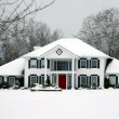Beautiful house in winter — Stock Photo