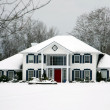Beautiful house in winter — Stock Photo #11284927