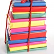 Wrapped books — Stock Photo