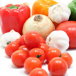 Fresh vegetables, peppers, tomatoes, garlic and onions. — Stock Photo #11284968