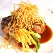 Beef tenderloin entree — Stock Photo