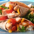 Chicken wrap — Stock Photo
