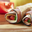 Lunch roll-up - Stock Photo