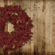 Country Christmas wreath — Stock fotografie