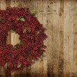 Country Christmas wreath - Stock Photo
